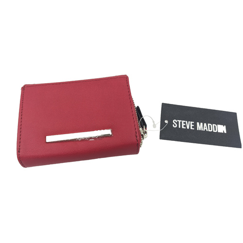 Steve Madden Red Small Boxed Wallet