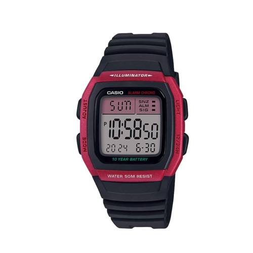 Casio W96H-4 Watch Red Digital Sport W96